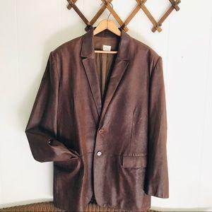 Calvin Klein Made In Italy Goat Leather Blazer